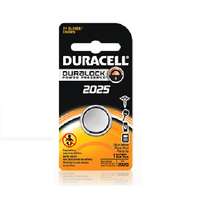 Key Fob Battery - Duracell - 1pk (D2025)