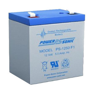 Power-Sonic PS-1250 12V 5AH Rechargeable Battery