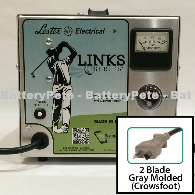 48 Volt Golf Cart Battery Charger Lester 48V 13A Links Series Crowsfoot