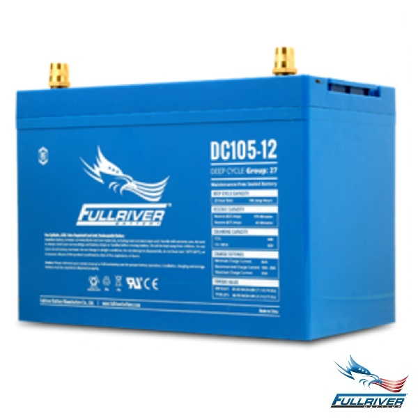 Fullriver Battery DC105-12 AGM 12 Volt 105Ah
