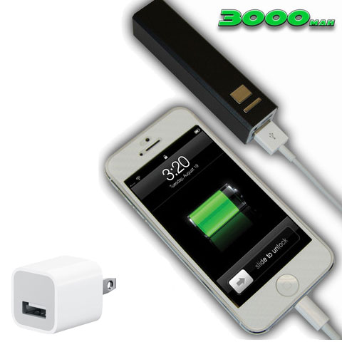 Xsorii 3000 mAh PowerBank charger for cell phone in Black
