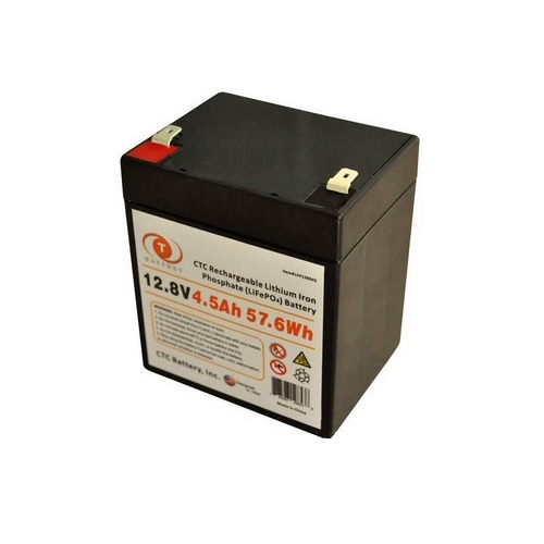 CTC Lithium Iron Phosphate (LiFePO4) Rechargeable Battery – 12.8V 4.5Ah 57.6Wh – LFP128045
