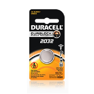 Key Fob Battery Replacement - Duracell - 1pk (D2032)