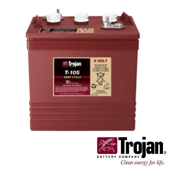 Golf Cart Battery Trojan T-105 6 volt