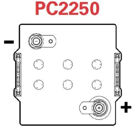 Odyssey PC2250 Battery Terminal Configuration