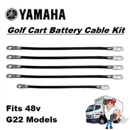 Golf Cart Battery Cables - Kit-48v-G22 Model