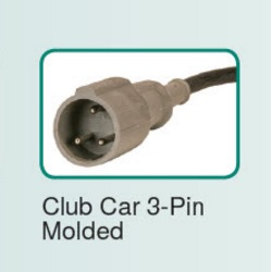 Club Car battery charger round 3 pin connector