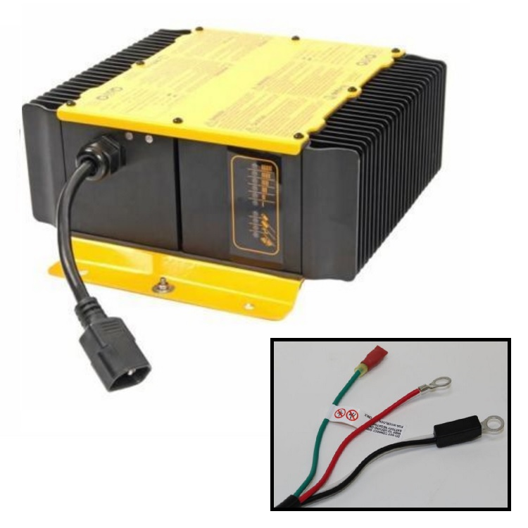 Golf Cart Charger Delta Q QuiQ 48v 48 volt 18 amp with eyelet terminal connectors