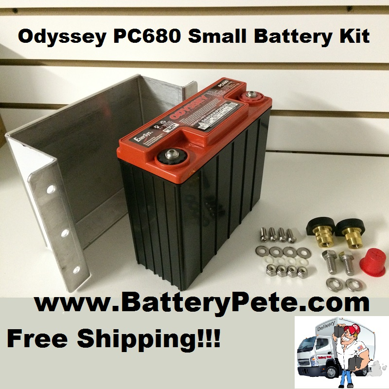 Odyssey PC680 Battery Holddown Kit - Side View