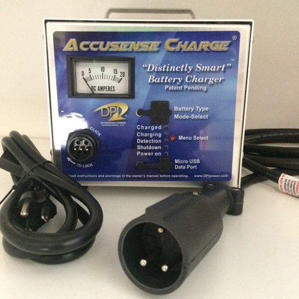 DPI 48 Volt Golf Cart Battery Charger Club Car Round 3 Pin Connector BP
