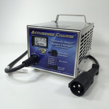 DPI 48 Volt Golf Cart Battery Charger - Star Car Black 3 Pin Connector