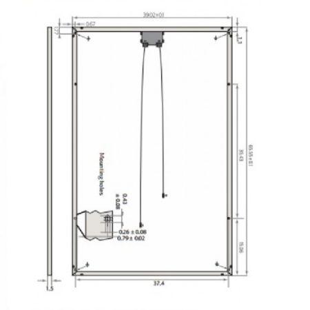 240 Watt Solar Panel REC Solar REC240PE Illustration