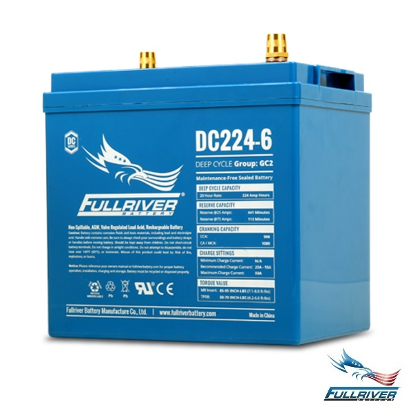 Fullriver Battery DC224-6 AGM 6 Volt 224Ah