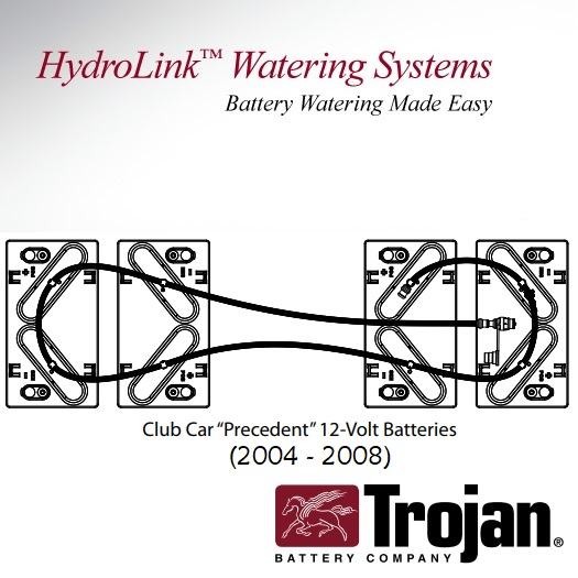 Trojan Hydrolink Battery Watering System Club Car Precedent 48V T 1275 T 1260