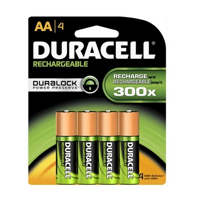 Duracell NiMH AA Rechargeable Battery - 4 pk - DC1500B4N