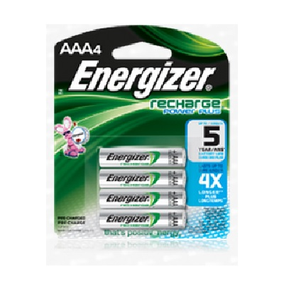 Energizer AAA Rechargeable Battery 4pk (NH12BP-4)