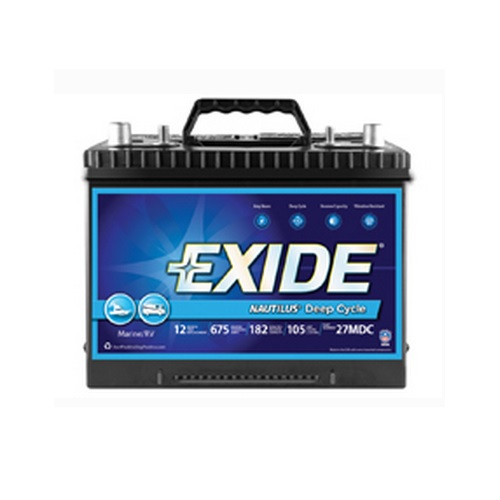 Exide Nautilus MDC27 Deep Cycle Battery