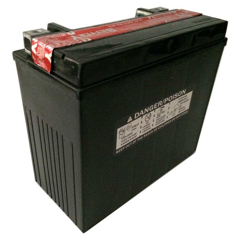 Power-Sonic PTX20L-BS Battery Rear