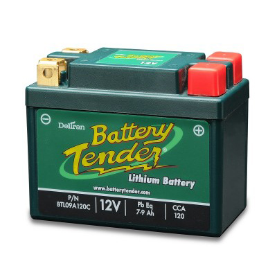 Battewry Tender lithium motorcycle battery BTL09A120C